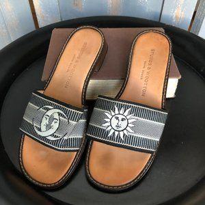 Stubbs & Wootton Palm Beach Moon Sun Slide Sandals